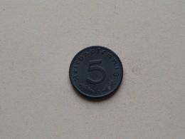 1944 D - 5 Reichspfennig ( KM 100 ) Uncleaned ! - [ 4] 1933-1945 : Troisième Reich