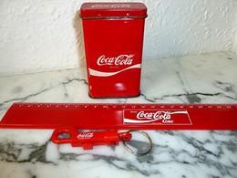 Publicité COCA COLA - Boîte, Centimètre, Porte-Clefs - Coca-Cola