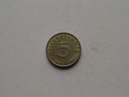 1938 A - 5 Reichspfennig ( KM 91 ) Uncleaned ! - 5 Reichspfennig
