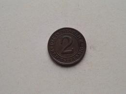 1924 G - 2 Reichspfennig ( KM 38 ) Uncleaned ! - 2 Rentenpfennig & 2 Reichspfennig