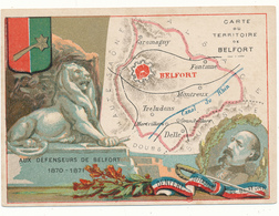 CHROMO - Département Du TERRITOIRE DE BELFORT - Publicité Le Fil Géographique - Other
