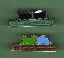 SNCF *** Le Jardin Ferroviaire *** Lot De 2 Pin's Differents *** TRAINS-06 - TGV