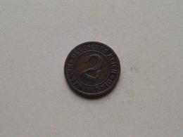 1924 G - 2 Rentenpfennig ( KM 31 ) Uncleaned ! - 2 Rentenpfennig & 2 Reichspfennig