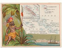 CHROMO - Colonies Françaises OCEANIE - Publicité Le Fil Géographique - Trade Cards