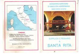 38)librettino Religioso Supplica E Rosario A Santa Rita - Religion