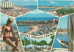 V3006 Fano (Pesaro Urbino) - Panorama Vedute Multipla - Ragazza Girl Femme Frau Chica Pin Up / Viaggiata 1971 - Pin-Ups
