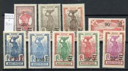 Martinique 1924-27 Y&Tn°111 à 119 - Michel N°(?) * - Série Courante - Martinique (1886-1947)