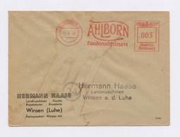AFS - HILDESHEIM, Ahlborn Landmaschinen Auf Firmenumschlag Haase, Winsen (Luhe) 1944 - Deutschland