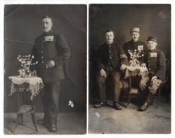 (Guerre 1914-18) 112, 2 Cartes Photos, Camp De Prisonniers De Langensalza 1917, Henri Bruneau Envoyé à Savigny Sur Braye - Guerra 1914-18