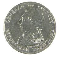 100 Francs - La Fayette   - France - 1987 - Argent - TTB - - N. 100 Franchi