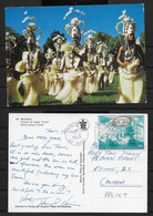 CP 1977 Polynésie Française .timbre N° PA 104  Bora-Bora. Groupe De Danse Tiipoto. - Polynésie Française