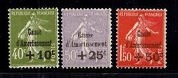 France Caisse D'Amortissement YT N° 275/277 Neufs ** MNH. TB. A Saisir! - France