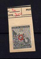 1871-72   Cap De Bonne Espérence 1871-72, Half-penny  20 A * Surchargé G, Cote 30 €, - Autres - Afrique
