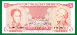VENEZUELA  5 BOLIVARES 1989  P70b  UNC - Venezuela