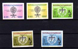 1962   Paraguay, éradication Du Paludisme, 325 / 329* Non Dentelé, Cote 6 € Mosquito Moustique Microscope - Enfermedades