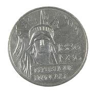 100 Francs - Liberté  - France - 1986 - Argent - TTB+ - - N. 100 Franchi