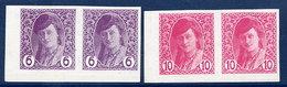BOSNIA & HERZEGOVINA 1913 Newspaper 6 And 10 H. Pair On Thick Paper LHM / *.  Michel 86y-87y - Bosnia And Herzegovina
