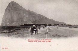 85Ct   Gibraltar Vue Depuis La Route D'Espagne  DND - Gibraltar