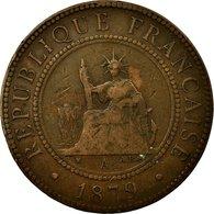 Monnaie, FRENCH COCHIN CHINA, Cent, 1879, Paris, TB, Bronze, KM:3 - Colonies