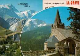Dep 05 , Cpm LA GRAVE , I.29757 , Alt. 1526 M. , Et Le Massif De La Meije , Multivues - Francia