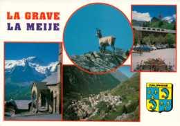 Dep 05 , Cpm La GRAVE , Alt. 1526 M. , Et Le Massif De La Meije , Multivues - Francia