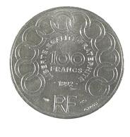 100 Francs - Monnet - France - 1992 - Argent - TTB - - N. 100 Franchi