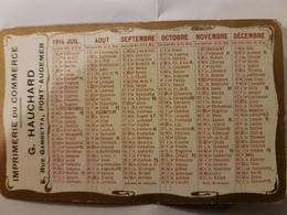 CALENDRIER 1914 IMPRIMERIE DU COMMERCE HAUCHARD - Petit Format : 1901-20