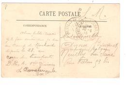 JS656/ CP L'Ile Bouchard écrite Par 1 Militaire Corps Des Transport C.Camp Du Ruchard 30/4/1915 V.Réfugiée Belge Neuilly - Army: Belgium