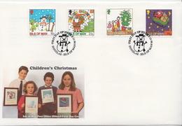 Isle Of Man Set On FDC - Christmas