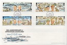 Isle Of Man Set On FDC - Militaria