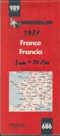 CARTE MICHELIN - FRANCE - 989. (Année 1977) - Cartes Routières