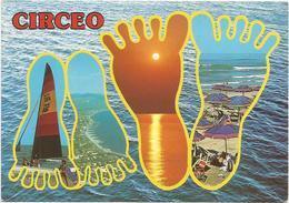 V3017 San Felice Circeo (Latina) - Panorama Vedute Multipla / Viaggiata 1987 - Altre Città