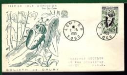 TOGO 1955 - THÈME INSECTES - GOLIATH DE DRURY - INSEKTE - Insekten