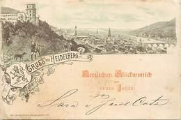 Pays Div -ref N827- Gruss Aus Heidelberg -/ Etat : Legeres Taches Par Endroits - - Germany