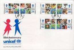 Isle Of Man Set On FDC - UNICEF