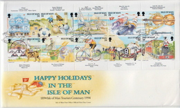 Isle Of Man Sheetlet On FDC - Other