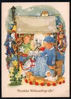 B9927 - Herta Rehn ?? Glückwunschkarte Weihnachten - Weihnachtsmarkt - Schubert & Grosche Ebersbach - Weihnachten