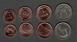 UAE United Arab Emirates 2018 Set Of 4 Coins UNC 25 10 5 1 Fils アラブ首長国連邦 阿聯酋 - United Arab Emirates