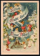 B9928 - Erhard Neubert Glückwunschkarte Weihnachten - Zwerg Heinzelmännchen Engel Angel  BFB Verlag Chemnitz - Weihnachten