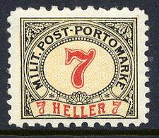 BOSNIA & HERZEGOVINA 1904 Postage Due 7 H. Perforated 9¼:10½  LHM / *.  Michel Porto 7G - Bosnia And Herzegovina