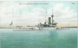 Boot - Bateau - Ship - Shiff - The U.S. Monitor Terror At Anchor - 8605 - A.C. Bosselman & Co - 1909 - Guerre