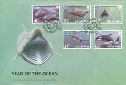 Isle Of Man Set On FDC - Marine Life