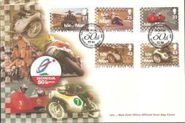Isle Of Man Set On FDC - Motorbikes