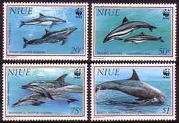 Niue 1993 Yvertn° 614-617 *** MNH Cote 15,00 Euro Faune WWF Dolfijnen Dauphins - Niue