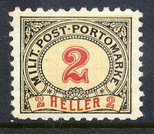 BOSNIA & HERZEGOVINA 1904 Postage Due 2 H. Perforated 9¼:10½ LHM / *.  Michel Porto 2G - Bosnia And Herzegovina