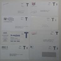 """France - Enveloppe Réponse - Petit Lot De 8 Enveloppes """"américaines"""" Différentes - Entiers Postaux"""