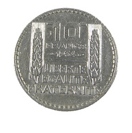 10 Francs - Turin  - France -  1934 - Argent - TTB+  - - France