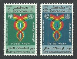 QATAR 1981 WORLD TELECOMMUNICATIONS DAY MEDICAL SET MNH - Qatar