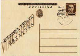 LSAU13 - ITALIE OCCUPATION DE LA CROATIE EP CP IMPERIALE 30c SURCHARGEE OBL. PHILATELIQUE SEBENICO 17/3/1944 - Croatian Occ.: Sebenico & Spalato