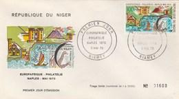 NIGER   THEME EUROPA   EUROPAFRIQUE     NAPLES 1970 - Niger (1960-...)